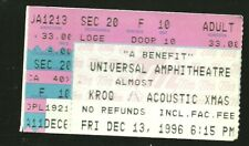 1996 KROQ Acstc Xmas concert ticket Tori Amos Fiona Apl