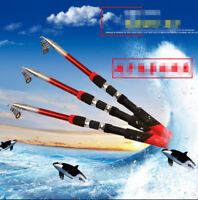 Fishing Rod Portable Telescopic Spinning Pole Carbon Fiber Travel Sea Ultralight