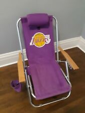 Lakers Beach Chair. Foldable, Reclines, Can Become A Backpack, Headrest,...