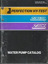 Old vintage perfection HY-test ztreeter zoom water pump catalog WP988 manual