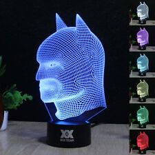 DC Batman 3D LED Acrilico 7 Colore Luce Notturna Scrivania Lampade Regalo