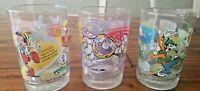 Set of 3 McDonald's Walt Disney 100 Years Of Magic Glass Cups 12 Oz Collectible