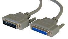 2m 25 Pin DB25 Male/Female M/F Extension Cable Parallel Printer RS232 PC Serial