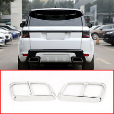 For Land Rover Range Rover Sport 2018 2019 Steel Exhaust Pipe Cover Trim