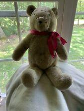 "Vintage 20"" Alresford Crafts honey smiling teddy bear soft stuffed toy rare"