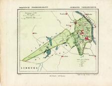 ANTIQUE MAP-HOLLAND-VIERLINGSBEEK-NOORD BRABANT-KUYPER-1865
