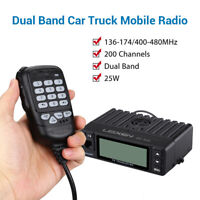 Mini 25W Dual Band 136-174MHz/400-480MHz Vehicle Car Mobile Ham Amateur Radio AU