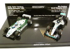 Minichamps Williams FW08 & Mercedes AMG W07 F1 Keke & Nico Rosberg Set 412821601