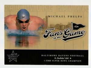 MICHAEL PHELPS 2004 LEAF ROOKIES & STARS FANS OF THE GAME RC FG-2 OLYMPIC GREAT!