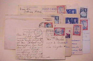 BERMUDA  14 SMALL COVERS 1935-1952 TO USA