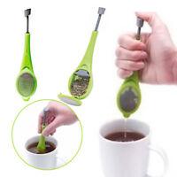 Reusable Built-in Plunger Tea Infuser Healthy Flavor Plastic Tea Coffee Strainer