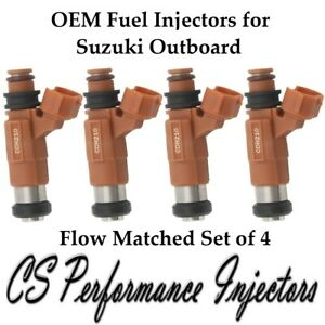 4x OEM Fuel Injectors for Suzuki Outboard DF90 DF100 DF115 DF140 HP CDH210