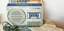 SHARP GF-1740 Vintage Boombox AM FM 2-Band Cassette Tape Recorder w/ Box, Manual