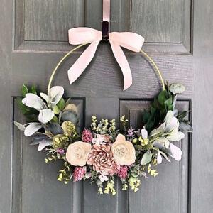 10 - 40cm Floral Hoop Flower Wreath Metal Hanging Hoop Wedding Party Decor