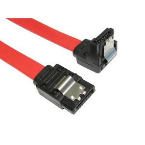 45cm Right Angle SATA Cable Serial ATA Data Lead Locking Latching S-RA 0.5m