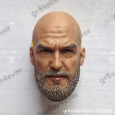"Custom 1/6 scale Head Sculpt Jeff Bridges for 12"" Hot Toys Iron Monger Man Body"