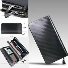 3K Twill Double zipper Carbon Fiber Money Card Wallet Long Moneybag Handbag