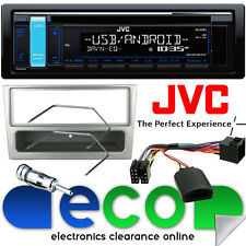 VAUXHALL MERIVA un JVC CD mp3 USB Radio Auto Stereo & sterzo Kit Di Montaggio Argento