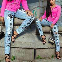 BY ALINA MEXTON Damenjeans Jeans Damenhose Röhrenjeans Hüftjeans 34-38 #D330