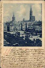1899 Gruss aus Strassburg CPA Strasbourg Kleberplatz Ak gelaufen n/ Waffersdorf