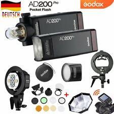 2*Godox 2.4 TTL 1 / 8000s AD200pro Blitz+AD-B2 Kopf+AK-R1+H200R+XPRO Auslöser