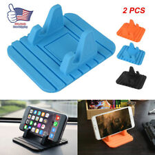 2pcs Rubber Holder Non-slip Mat Pad Dashboard Stand Mount For Mobile Phone GPS