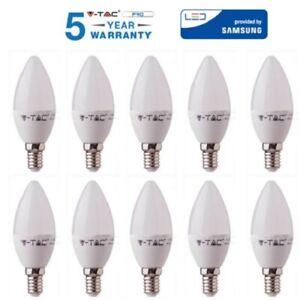 10 LAMPADINE V-TAC PRO LED E14 7w 45w CANDELA Calda Naturale Fredda Lampadina