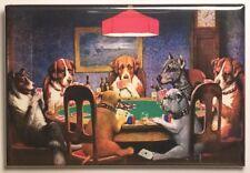 "Dogs Playing Poker MAGNET 2""x3"" Refrigerator Locker Coolidge"