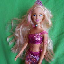 Barbie doll mermaid mermaidia pink tiara top tail  blonde hair