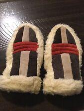 Vintage Suede PATCHWORK Faux Fur ESKIMO Mittens Ladies Size SMALL