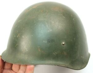 HUNGARIAN ARMY M70 STEEL HELMET USED + DAMAGED CHINSTRAP & LINER (AUC)