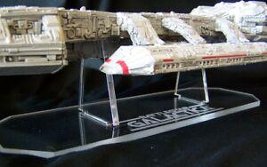 acrylic display stand for Moebius Battlestar Galactica model TOS