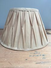 "CHAMPAGNE PINCH PLEATED SILK LINED LAMP SHADES 12"" BOTTOM X 7 3/4"" TALL"