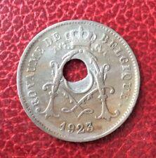 Belgique - Albert Ier  - Rare  10 Centimes 1923 FR  -  Fautée - trou decentré