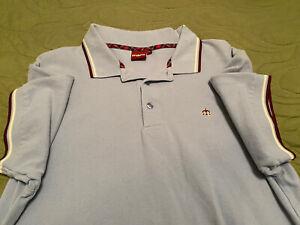Merc-London Polo Shirt. Mens XL, Light blue. Pre-owned.