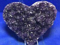 Amethyst Geode Heart A++ Amethyst Druzy Crystals Mineral Gemstone Uruguay