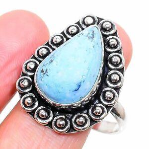 Tibetan Turquoise Ethnic Handmade Gemstone Gift Jewelry Ring Size 10 J216