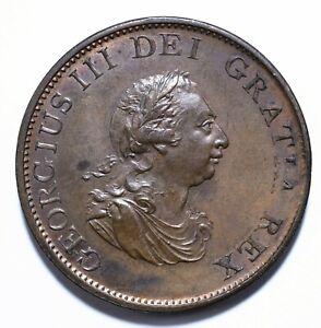 1799, UK, 1/2 Penny, George III, Copper, UNC, KM# 647, Lot [1685]