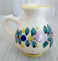 ~ Vintage Antique Small Flower Ceramic Pottery Pitcher ~ Made in Japan