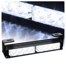 """8 LED 9.5"""" Hazard Emergency Warning Tow Traffic Advisor Strobe Light Bar - White"""