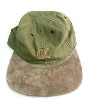 VTG Nike Brown Swoosh Felt Brim Strap Back Baseball Cap Hat