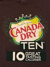 Canada Dry Ten XL T-Shirt 10 Great Tasting Calories Extra Large Mens