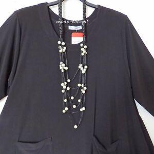 tolle Halskette Modeschmuck Lagenlook Stoffbändchen mit Perlen schwarz+weiß
