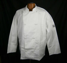 """CHEF REVIVAL COAT LONG SLEEVE COOKING JACKET WHITE KNIFE & STEEL J003 XL 48""""-50"""""""