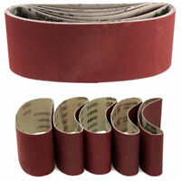 "5Pcs 75x457mm 3""x18"" Sanding Belts Mixed Grits60 80 100 120 240Grit Sander Tool"