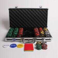 More details for 300 numbered redtooth poker chip set with 14 gram casino chips & button kit