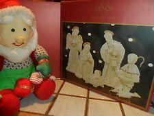 Lenox Innocence Nativity THE HOLY FAMILY 6 PC Set 24 kt Gold trim Jesus Mary NEW