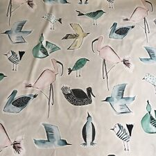 """SCION/HARLEQUIN CURTAIN Upholstery FABRIC""""MENAGERIE""""3.35 Mtrs 100% COTTON"""
