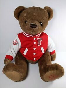 "FAO Schwarz 150th Anniversary Stuffed 14"" Varsity 62 brown Bear toys r us plush"