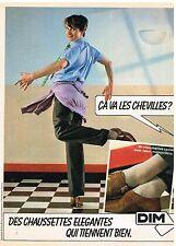 Publicité Advertising 1981 Les Chaussettes DIM